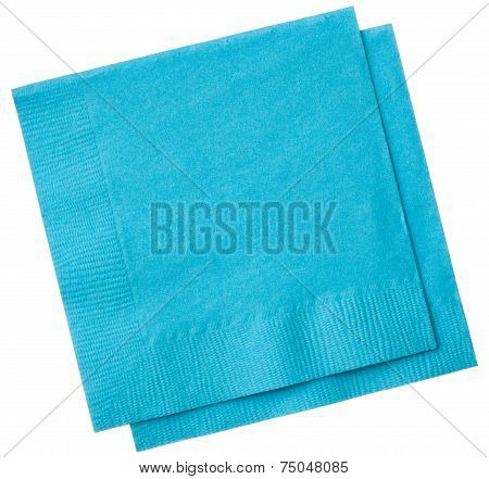 Square Napkins Isolated On White Background