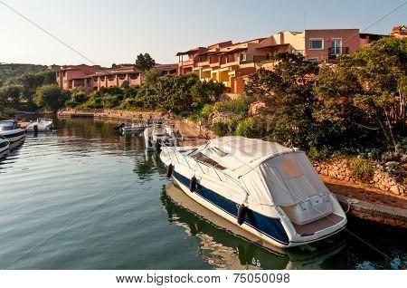 Typical Architecture In Porto Cervo, Sardinia, Italy