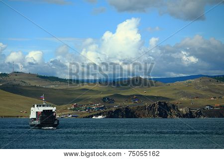 passenger ferry on the Baikal lake
