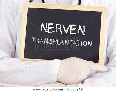 Doctor Shows Information: Nerve Transplantation In German
