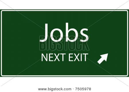 Jobs Vector Sign