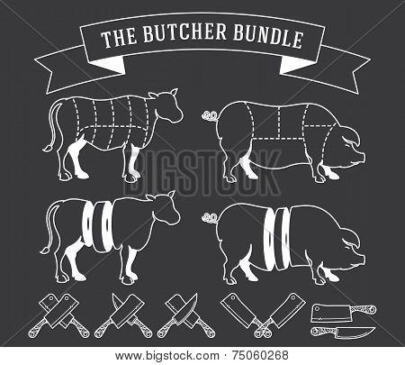 The Butcher Bundle White On Black