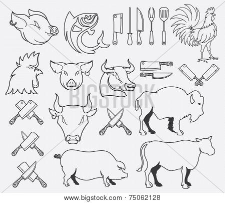 Vector Farm Animal Bundle