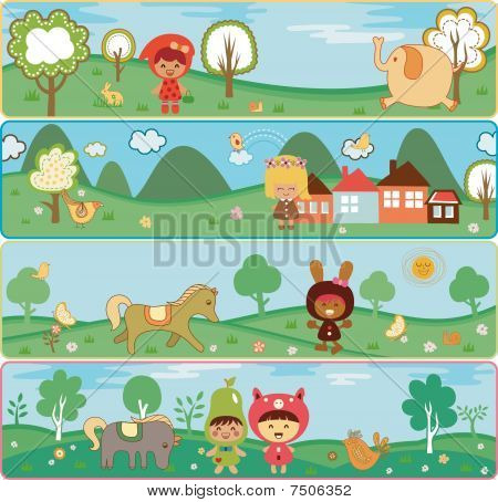 Children in Nature Banners
