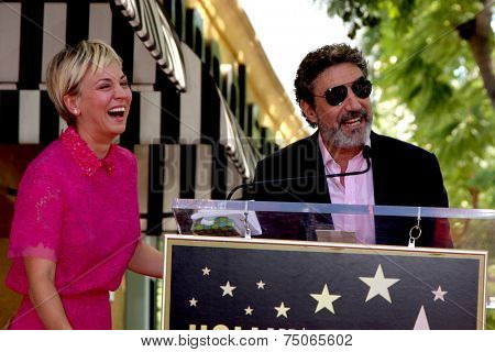 LOS ANGELES - OCT 29:  Kaley Cuoco, Chuck Lorre at the Kaley Cuoco Honored With Star On The Hollywood Walk Of Fame at the Hollywood Blvd. on October 29, 2014 in Los Angeles, CA