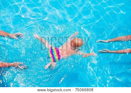 Baby Swimming Underwater