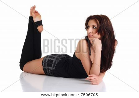 Girl Lies On The Floor