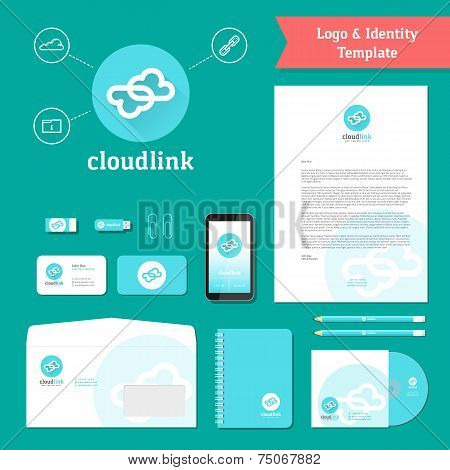 Cloud Link Logo and Identity Template