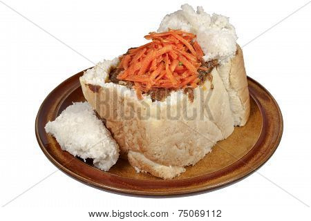 Durban Traditional Mutton Bunny Chow With Carrot Sambal