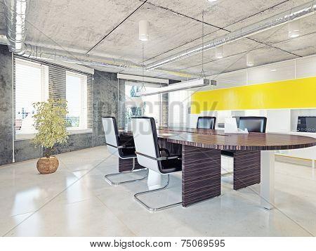 modern office interior. 3d illustration design concept