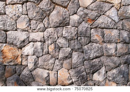 Decorative stone wall - full frame background