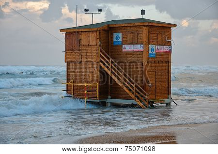 Unused Lifeguard Station In Israel