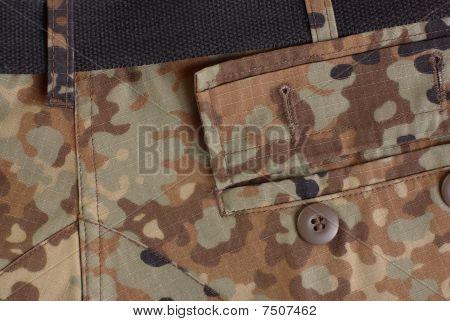 open pocket on uniform