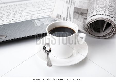 Business Still Life And Cup Of Coffee