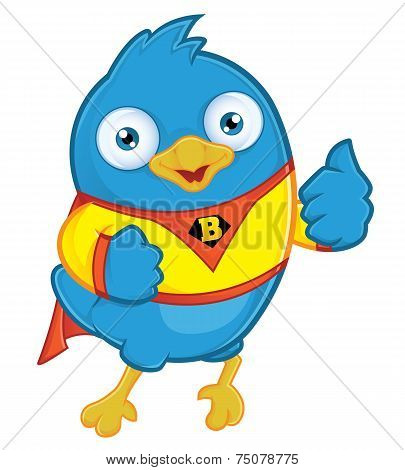 Superhero Blue Bird