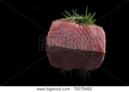 Tuna Steak Isolated.