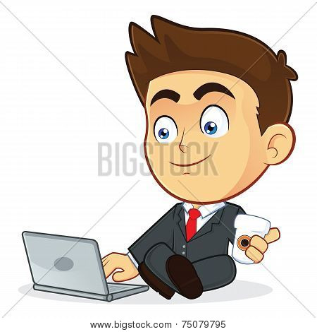 Businessman with his Laptop