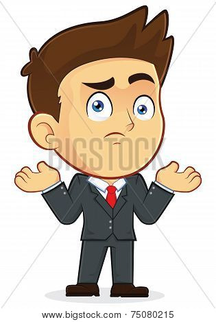 Confused Businessman Gesturing