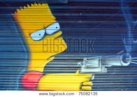 Street art Bart Simpson
