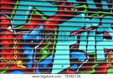 Street art Spiderman