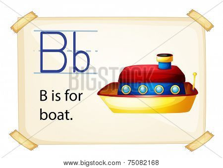Illustration of b for boat