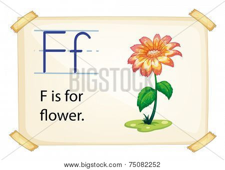 Illustration of f for flower