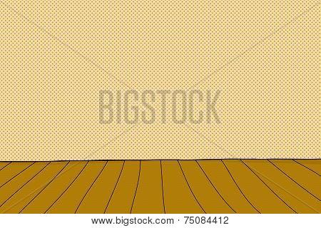 Cartoon Wooden Stage