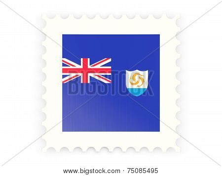 Postage Stamp Icon Of Anguilla