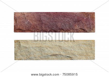 Sand Stone Samples Isolated On White Background