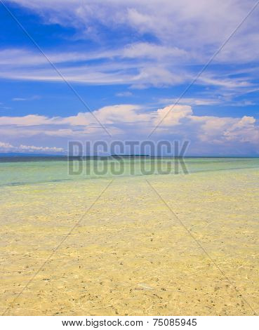 Beach on a tropical island.