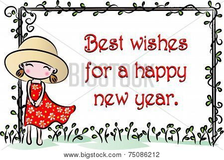 vector greeting card about new year