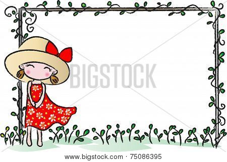 girl with blank border
