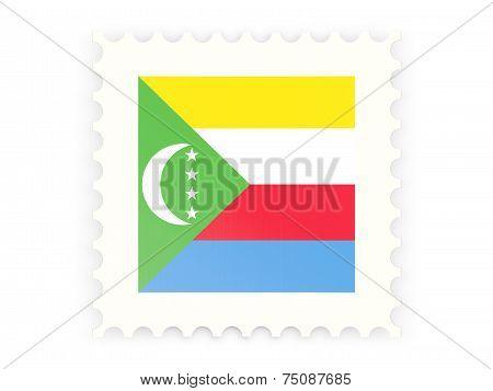Postage Stamp Icon Of Comoros
