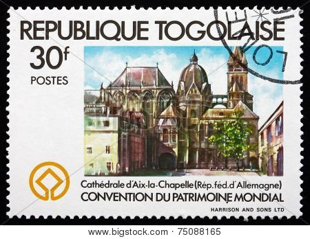 Postage Stamp Togo 1981 Aix-la-chapelle Cathedral, Germany