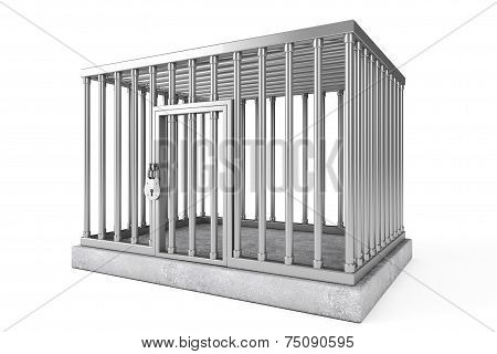 Metal Cage With Lock