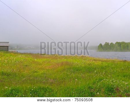 Fog on the lake