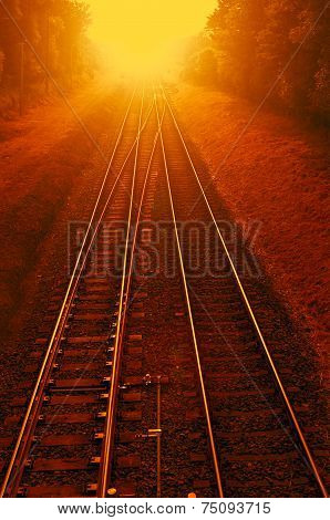 Railways On Fire - Photomanipulation