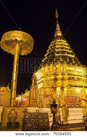 Phrathat Doi Suthep at night