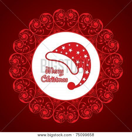 creative greeting card for christmas stock vector