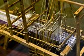 image of handloom  - a old chinese loom in china . ** Note: Shallow depth of field - JPG