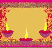 stock photo of diwali  - abstract diwali celebration frame and background vector illustration - JPG