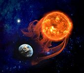 picture of planetarium  - Earth and Sun - JPG