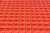 image of bleachers  - the red seats on stadium steps bleacher - JPG