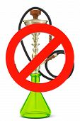pic of hookah  - No smoking hookah sign on a white background - JPG