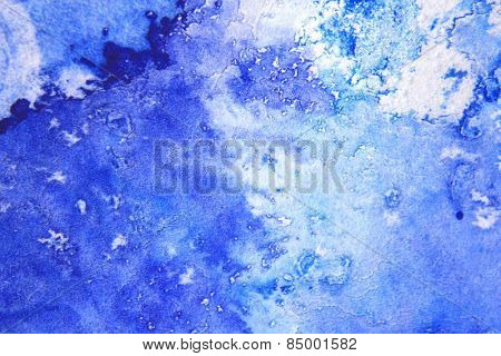 Blue Macro Watercolor 4