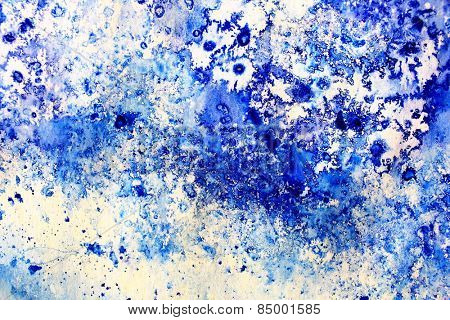 Blue Macro Watercolor 12