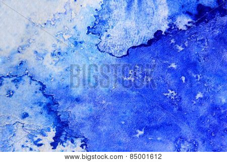 Blue Macro Watercolor 5