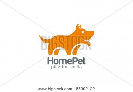 Silhouette Dog Logo design vector template. Home Pet shop logotype concept icon. Friend symbol.