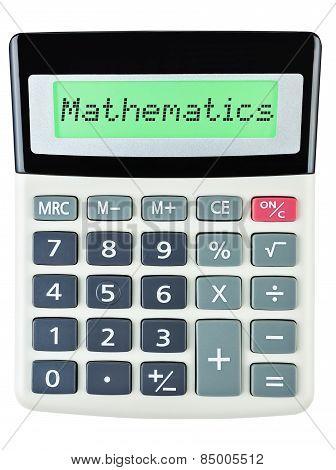 Calculator With Mathematics