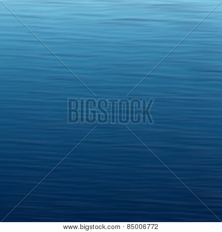 Blue water sea surface. Abstract background. Vector illustration.